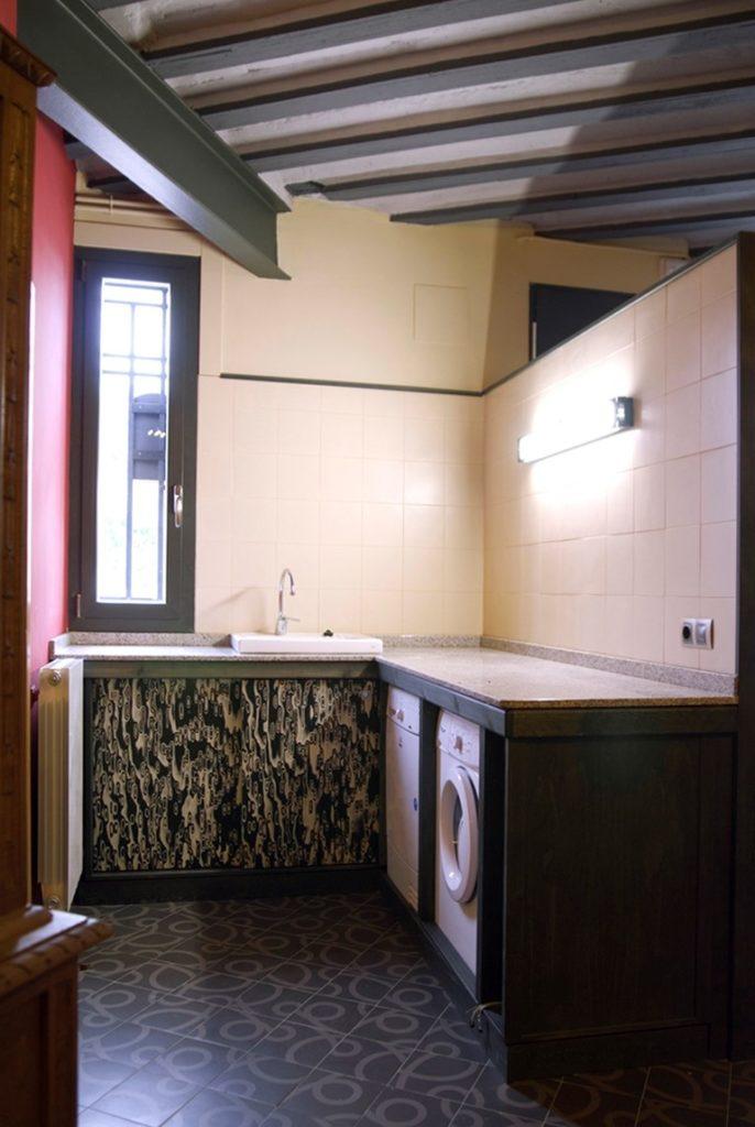 Lavadora, secadora y fregadero
