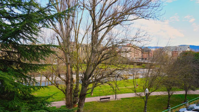 Vistas desde la terraza al río Najerilla | Apartamento Río